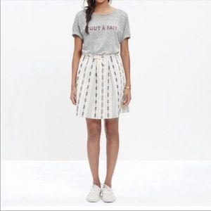 Madewell summer jacquard skirt women's size M